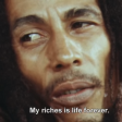 Bob Marley - Interview - Possessions make you rich? ... My richness is life forever